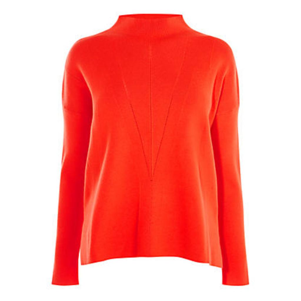 Karen Millen Layered Knit Jumper, Orange
