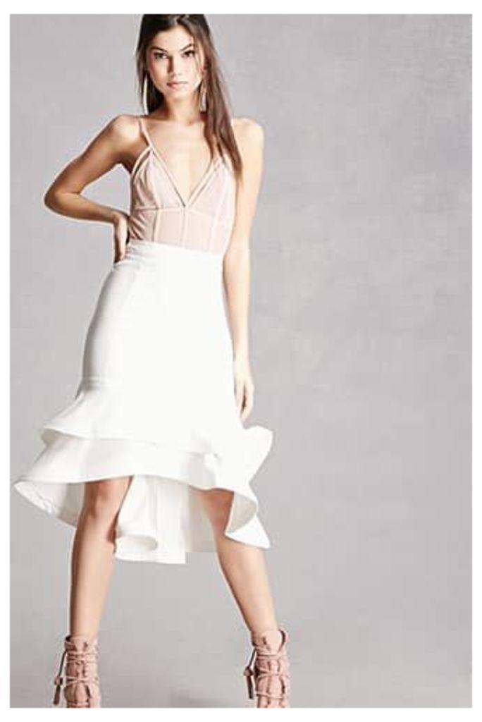 Ruffled Layer Hem Skirt