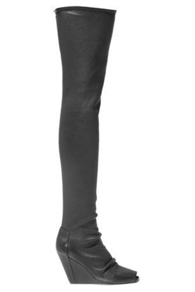 Rick Owens Woman Stretch-leather Over-the-knee Boots Black Size 39
