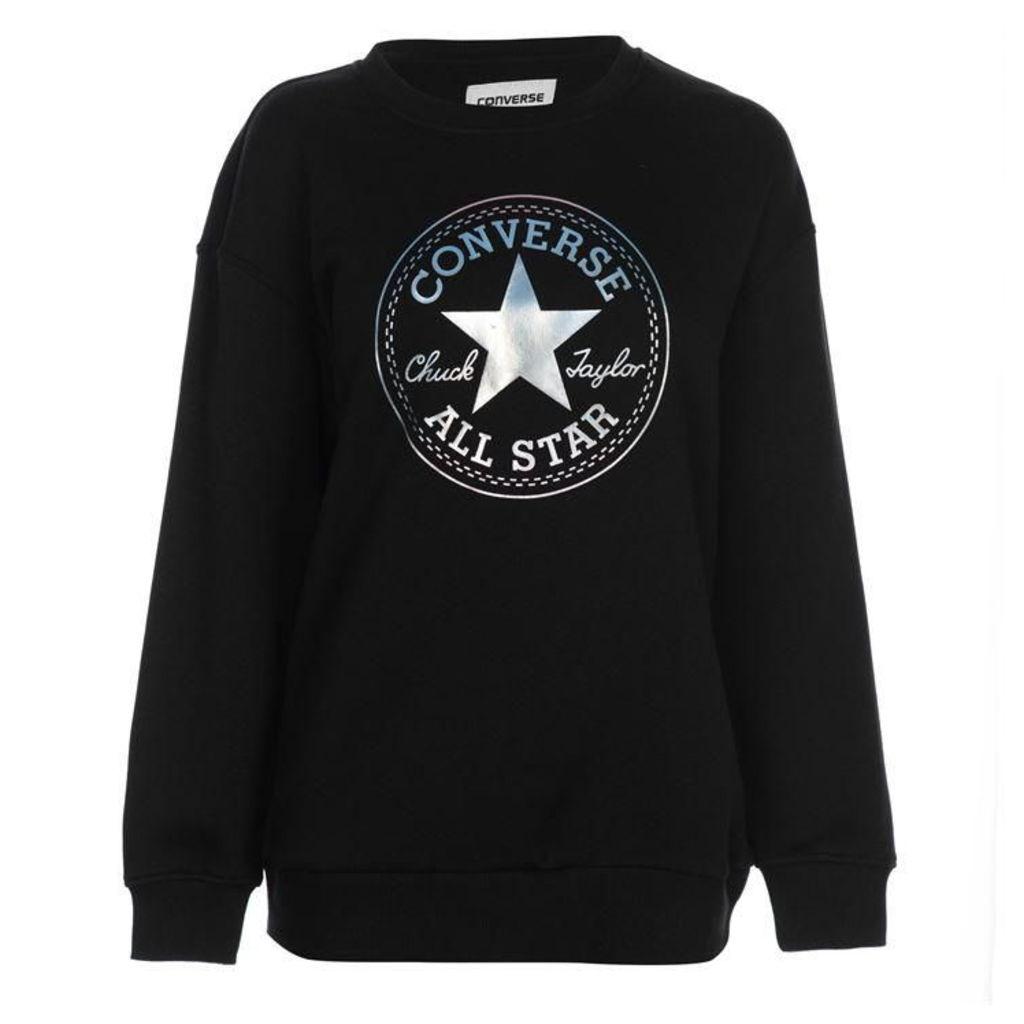 Converse Shine Logo Patch Sweatshirt