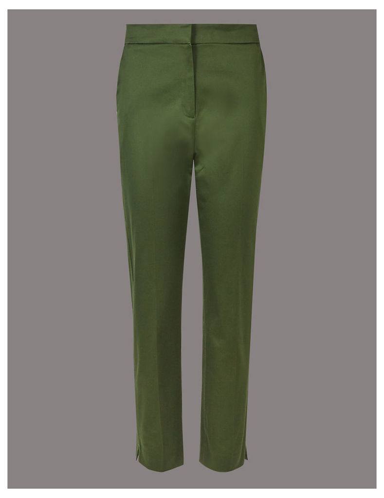 Autograph Cotton Rich Split Hem Trousers