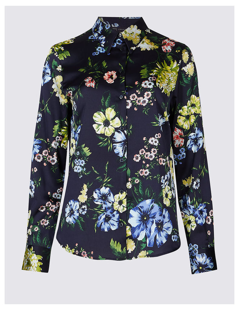 M&S Collection Floral Print Long Sleeve Shirt