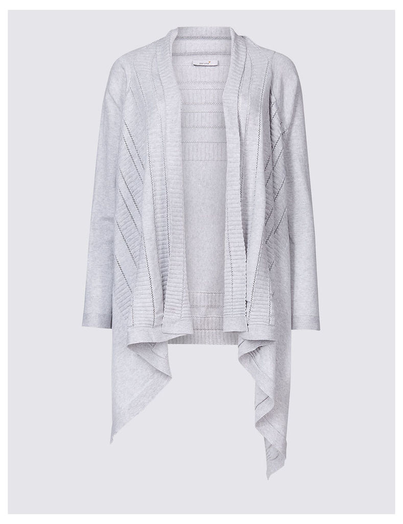 Per Una Pure Cotton Textured Open Front Cardigan