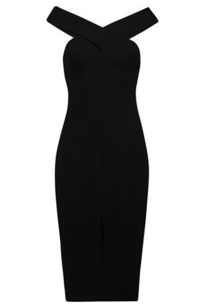 Safiyaa Woman Off-the-shoulder Crepe Dress Black Size 36