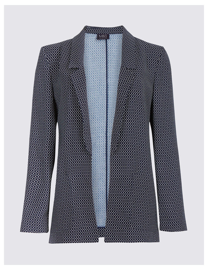M&S Collection Printed Patch Pocket Blazer