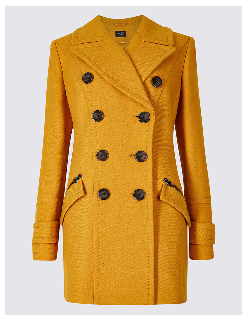 M&S Collection Double Breasted Pea Coat