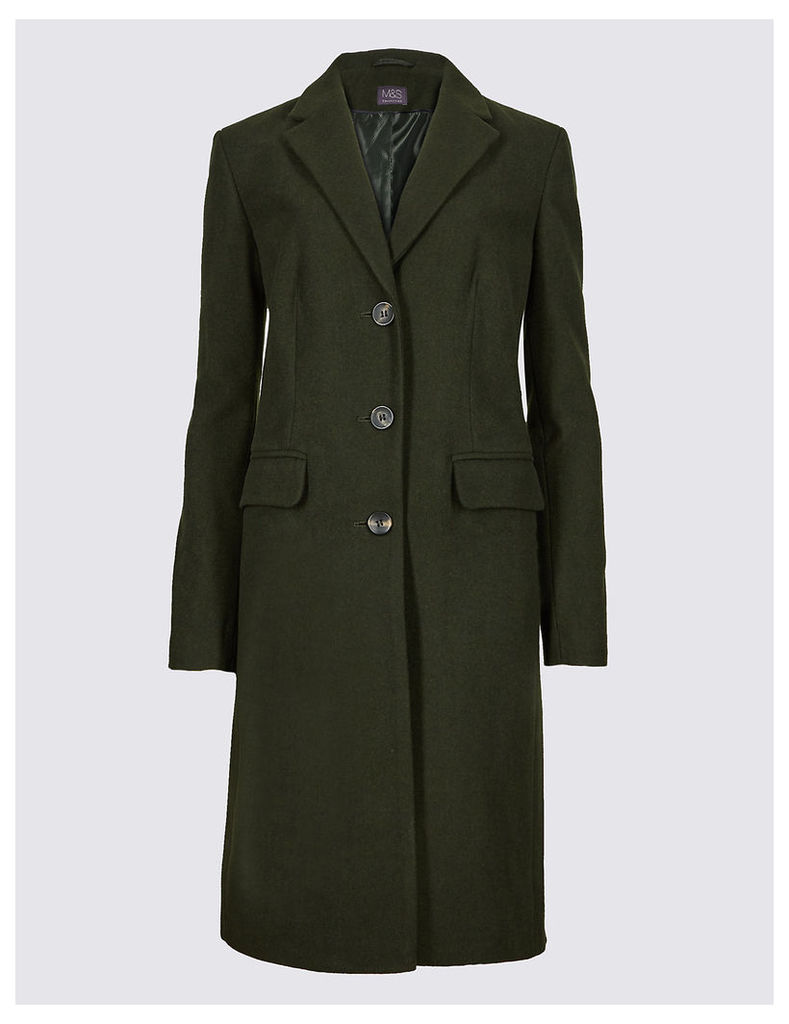 M&S Collection Wool Rich Single Breasted Coat