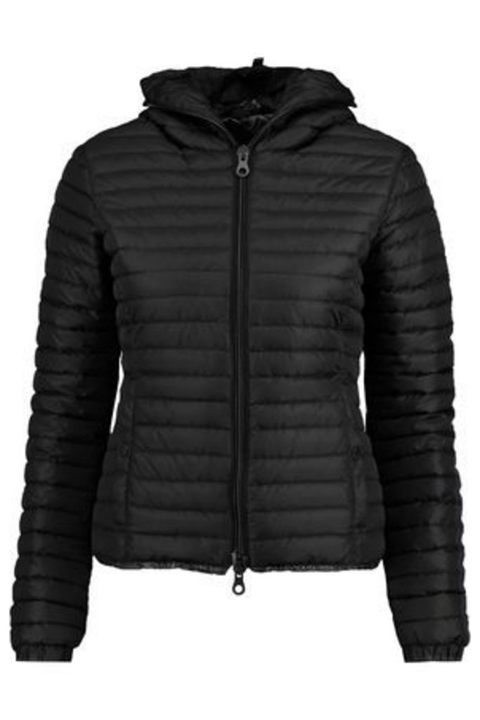 Duvetica Woman Sosandra Hooded Quilted Shell Jacket Black Size 42