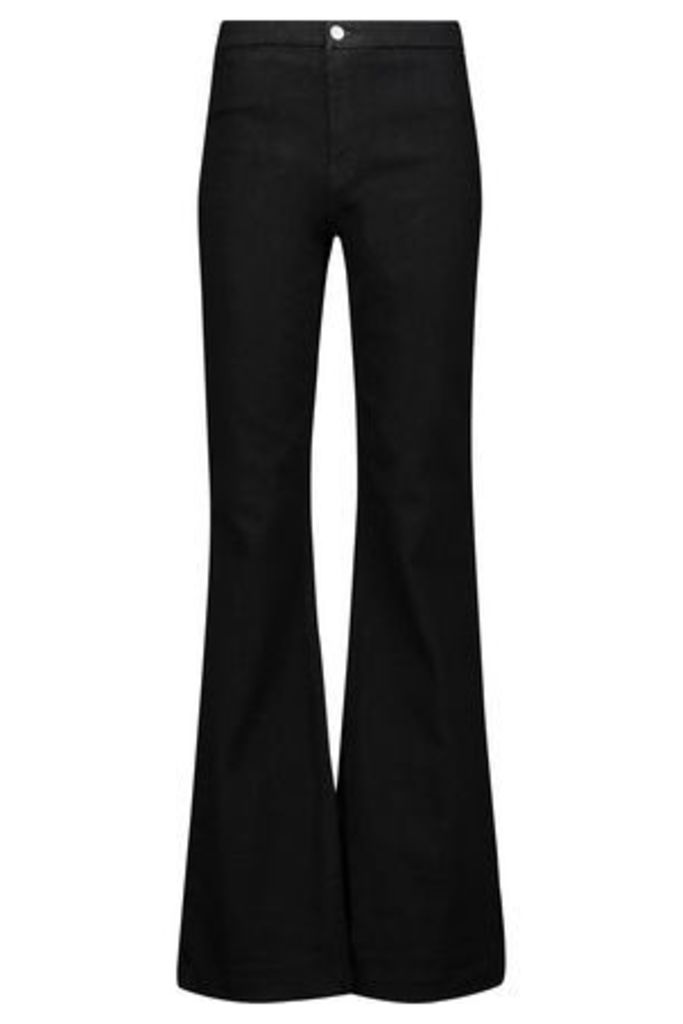 J Brand Woman High-rise Flared Jeans Black Size 25