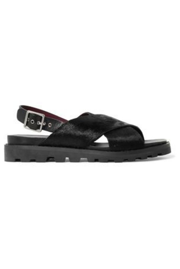 Marc By Marc Jacobs Woman Calf Hair Sandals Black Size 38