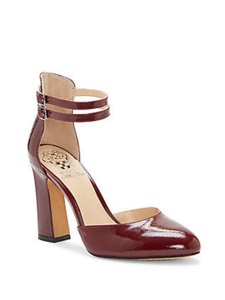 Dorinda Patent Leather Block Heel Pump
