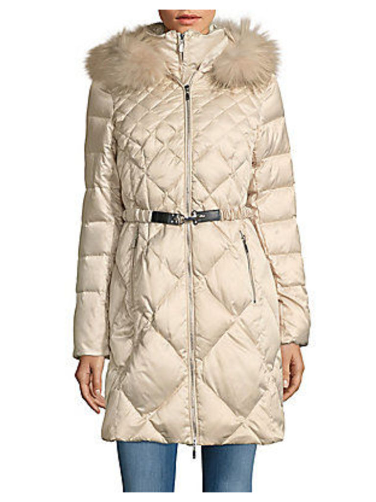 Fur-Trimmed Quilted Zip-Front Parka