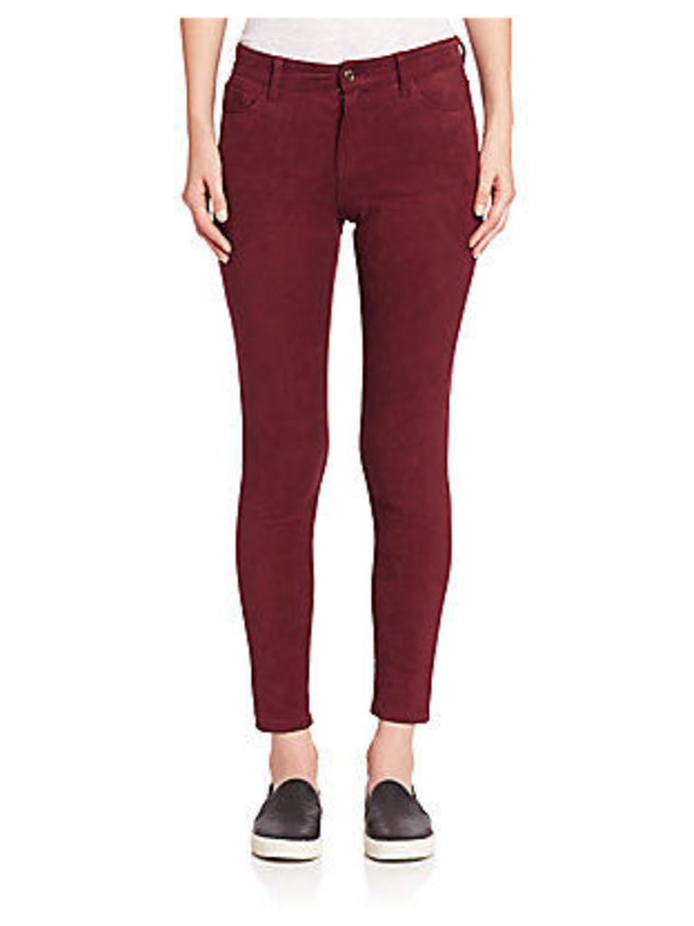 Faux Suede Icon Skinny Ankle Jeans