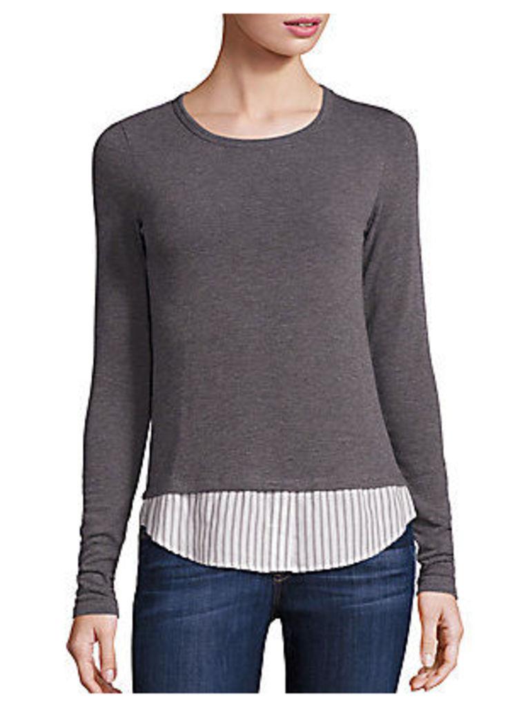 Staten Stripe Poplin Sweater