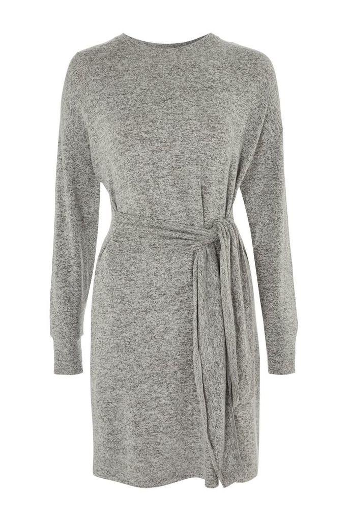 Womens TALL Cut and Sew Jumper Dress - Grey, Grey