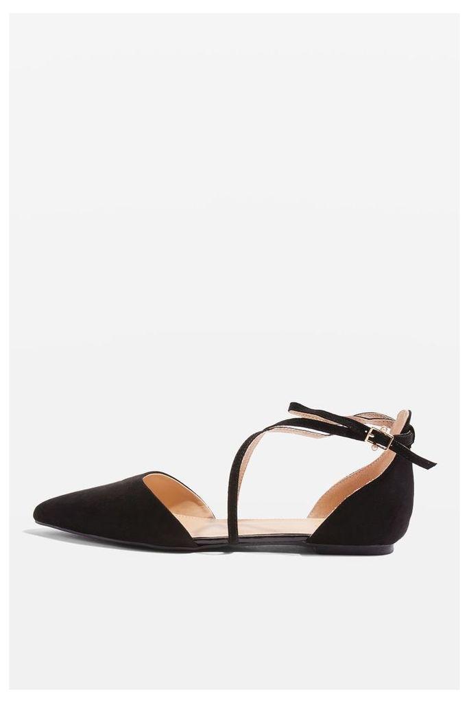 Womens ALBANY Cross Strap Sandals - Black, Black