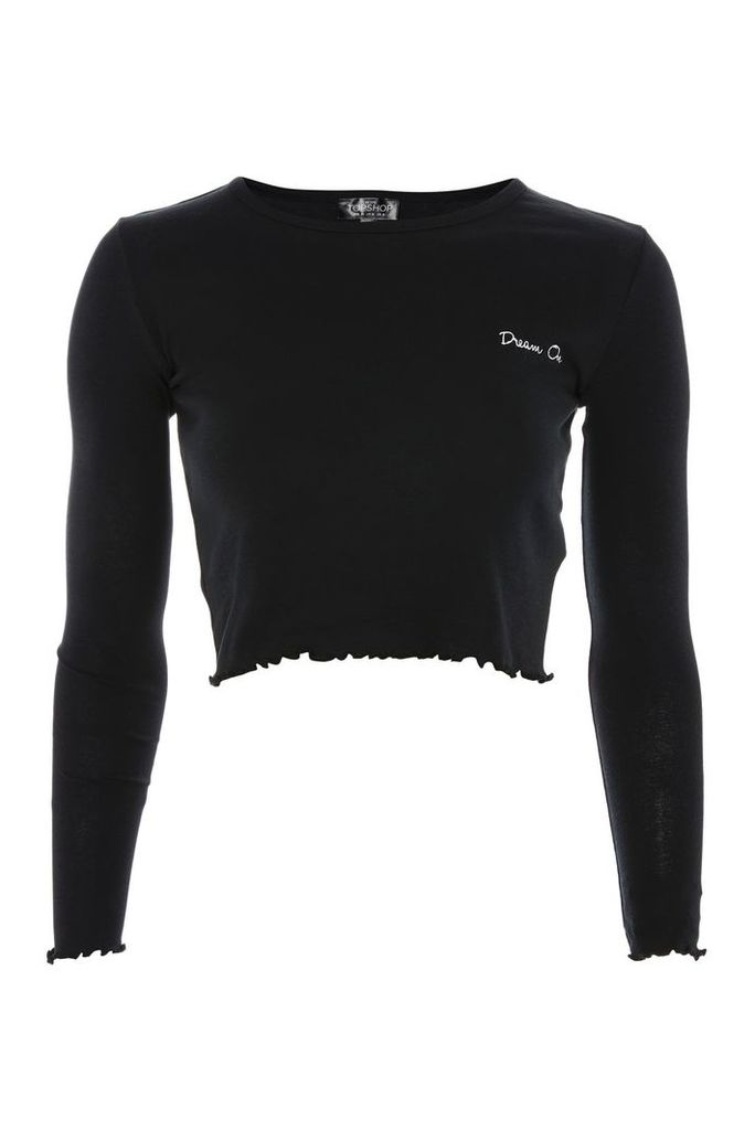 Womens PETITE 'Dream O'n T-shirt - Black, Black