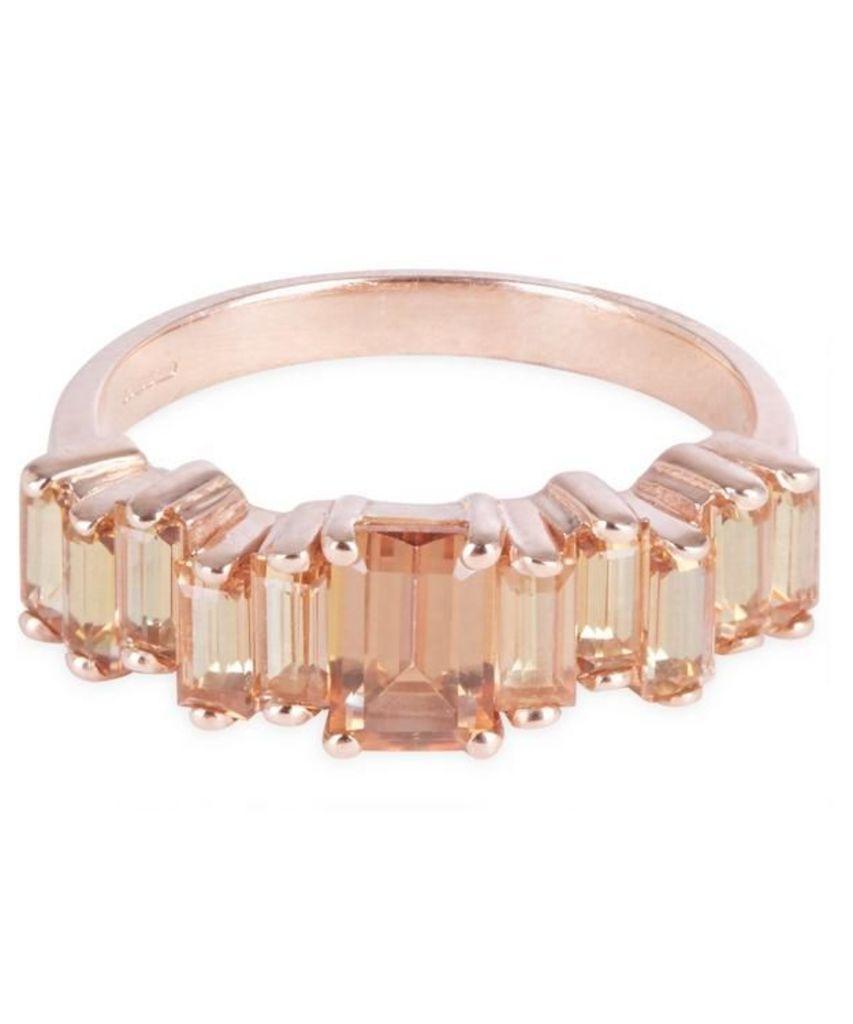 Rose Gold Champagne Topaz Ring
