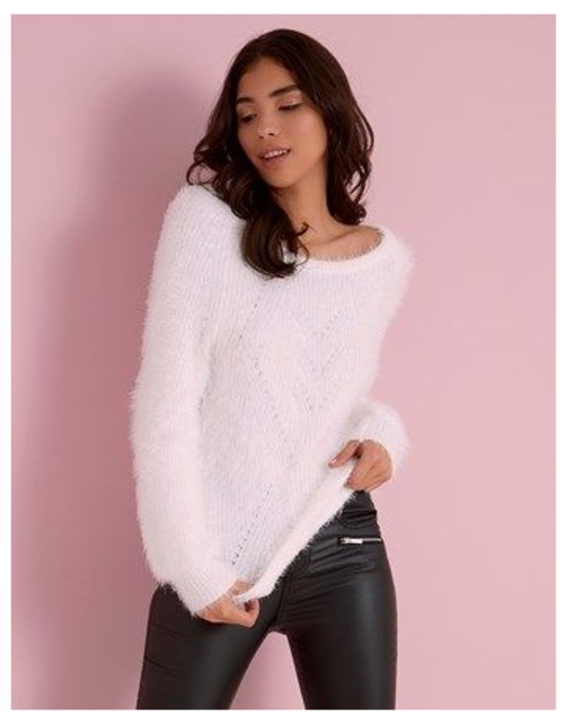 Sunshine Soul Fluffy Candyfloss Bell Sleeve Detail Jumper