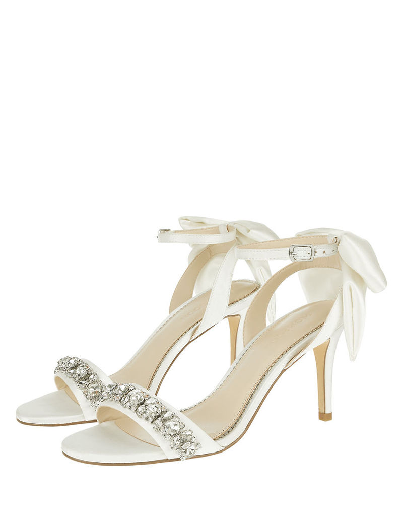 Dolly Diamante Trim Sandals With Bows