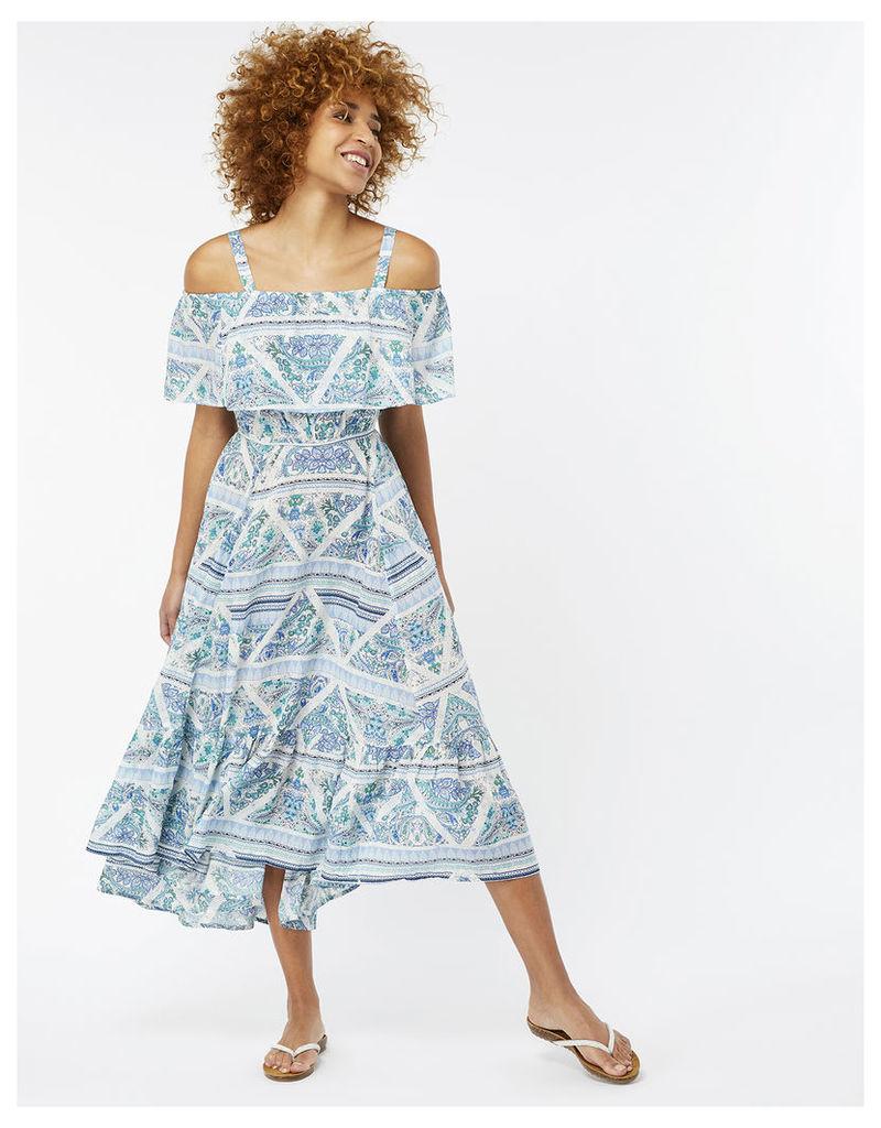 Danae Print Frill Dress