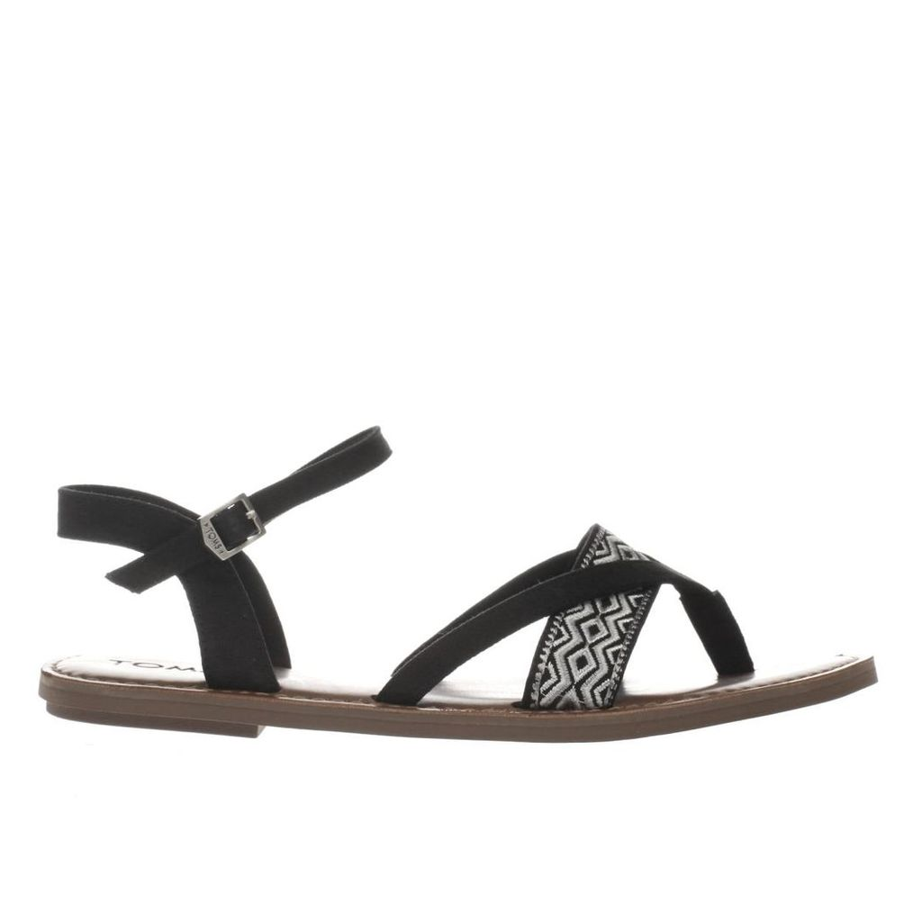 toms black & white lexie sandals