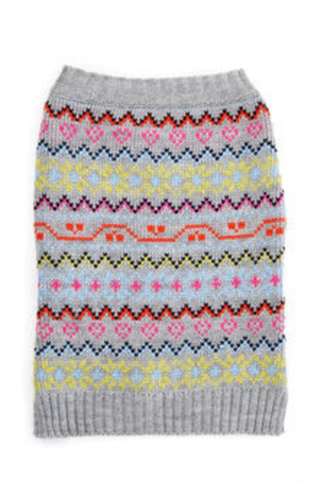 FAIR ISLE DOG JUMPER