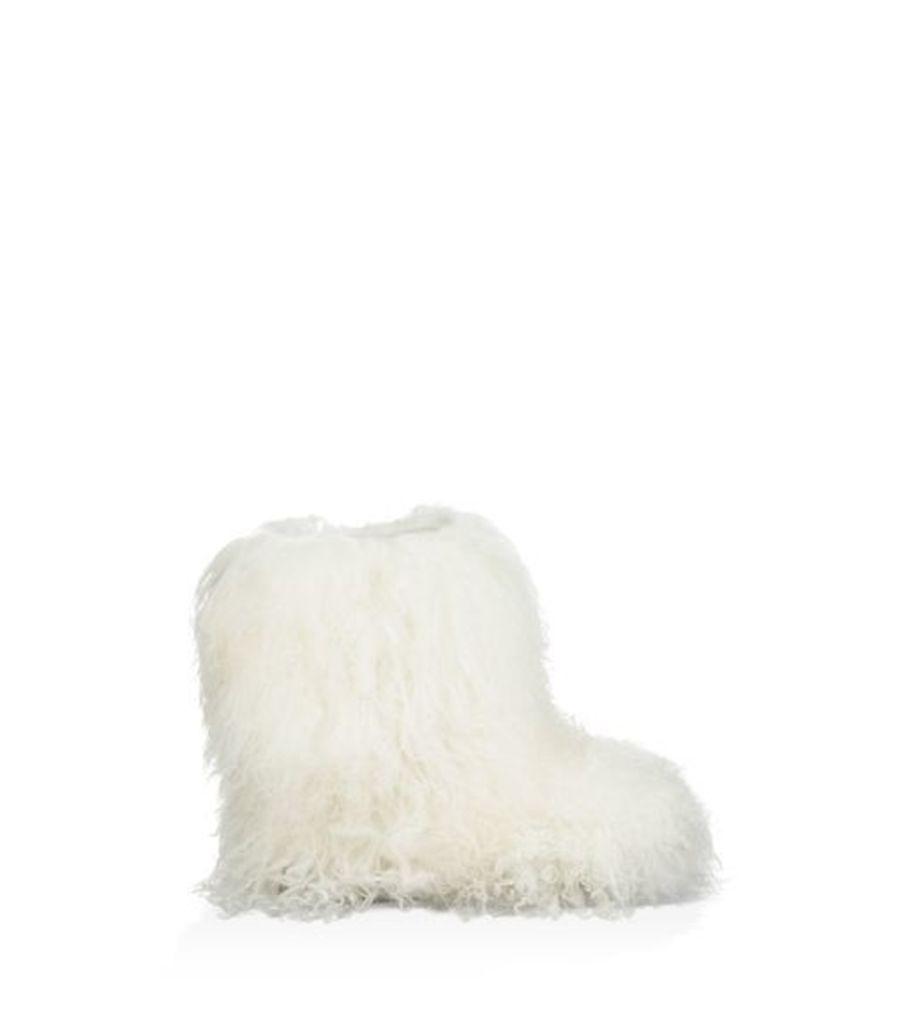UGG Fluff Momma Mongolian Womens Boots White 5