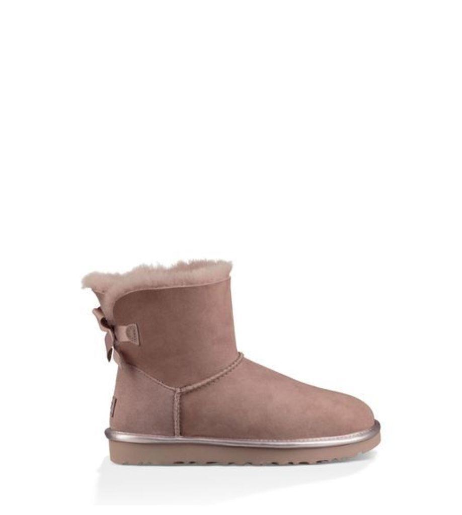 UGG Mini Bailey Bow Ii Metallic Womens Boots Dusk 7