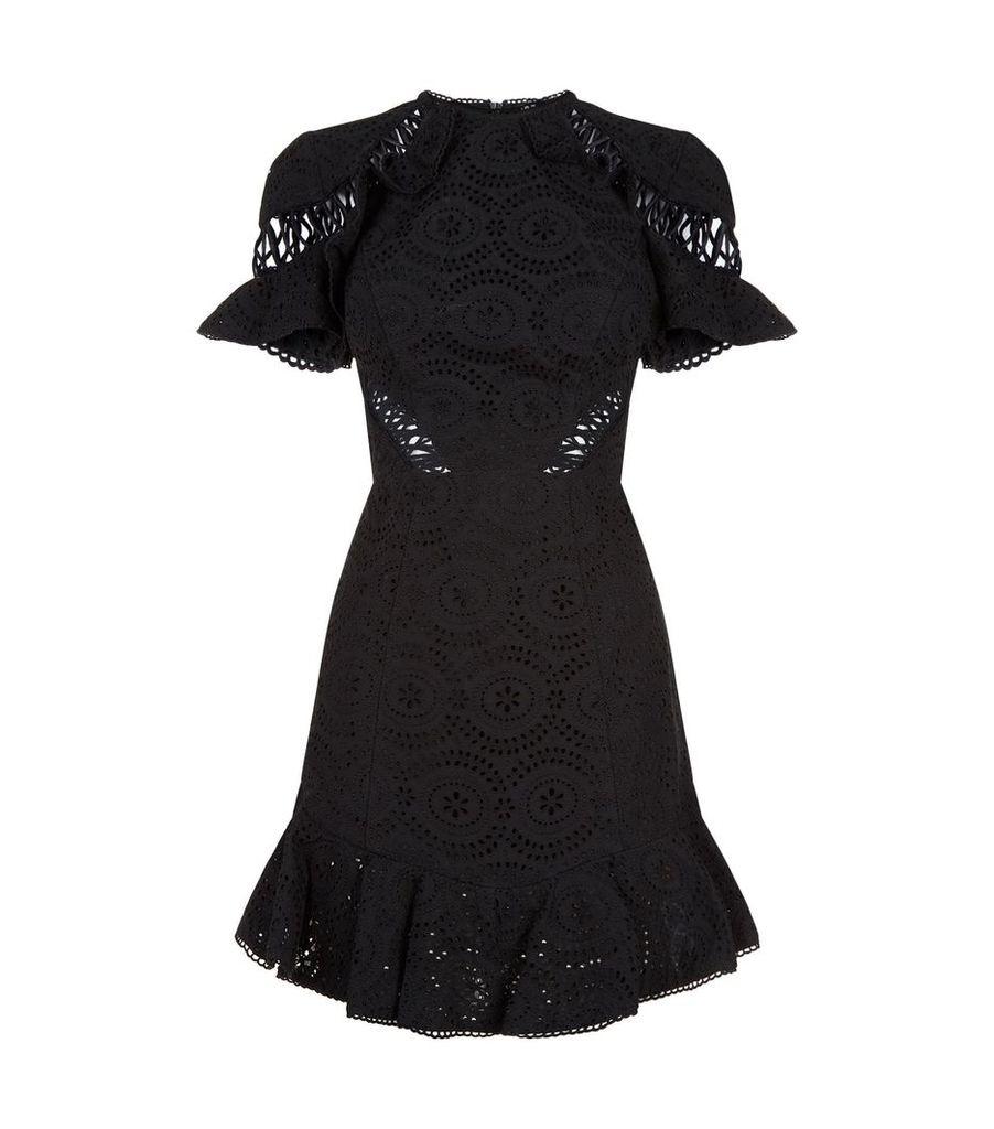 Helm Cotton Lace Mini Dress