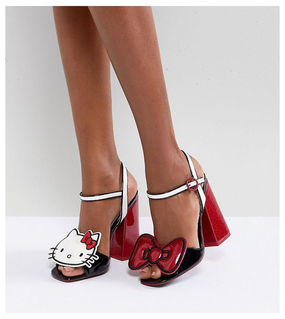 Hello Kitty X ASOS Heeled Sandals With Removable Badges - Multi