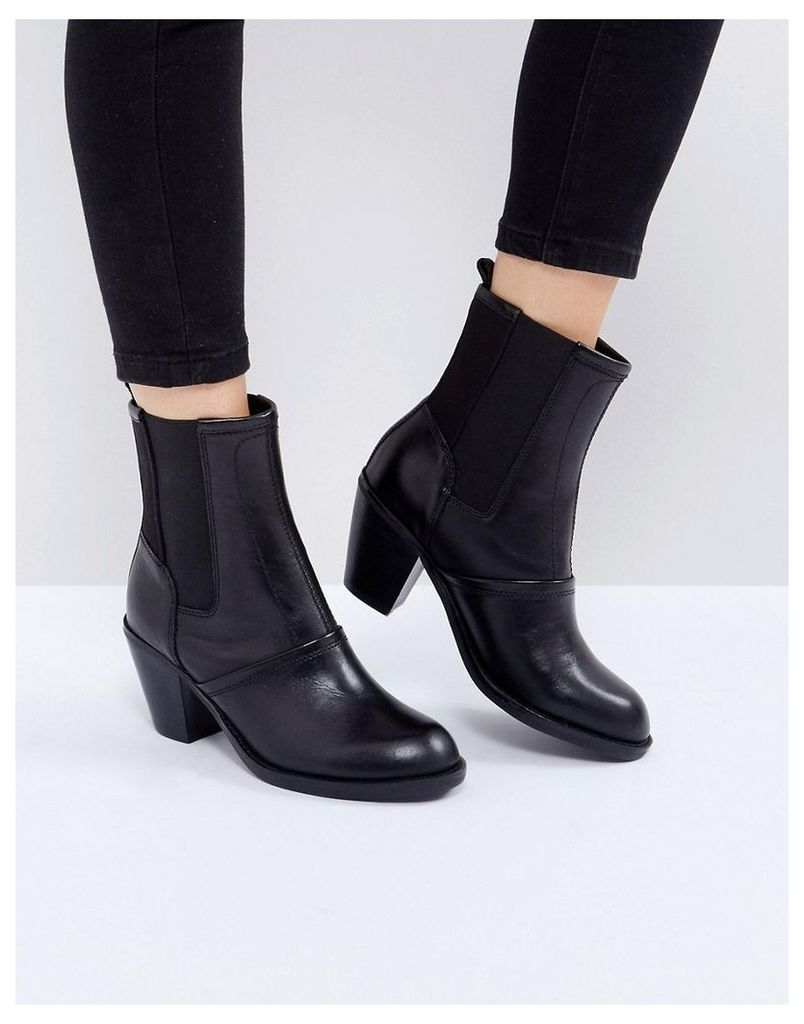 G-Star Block Heeled Ankle Boot - Black