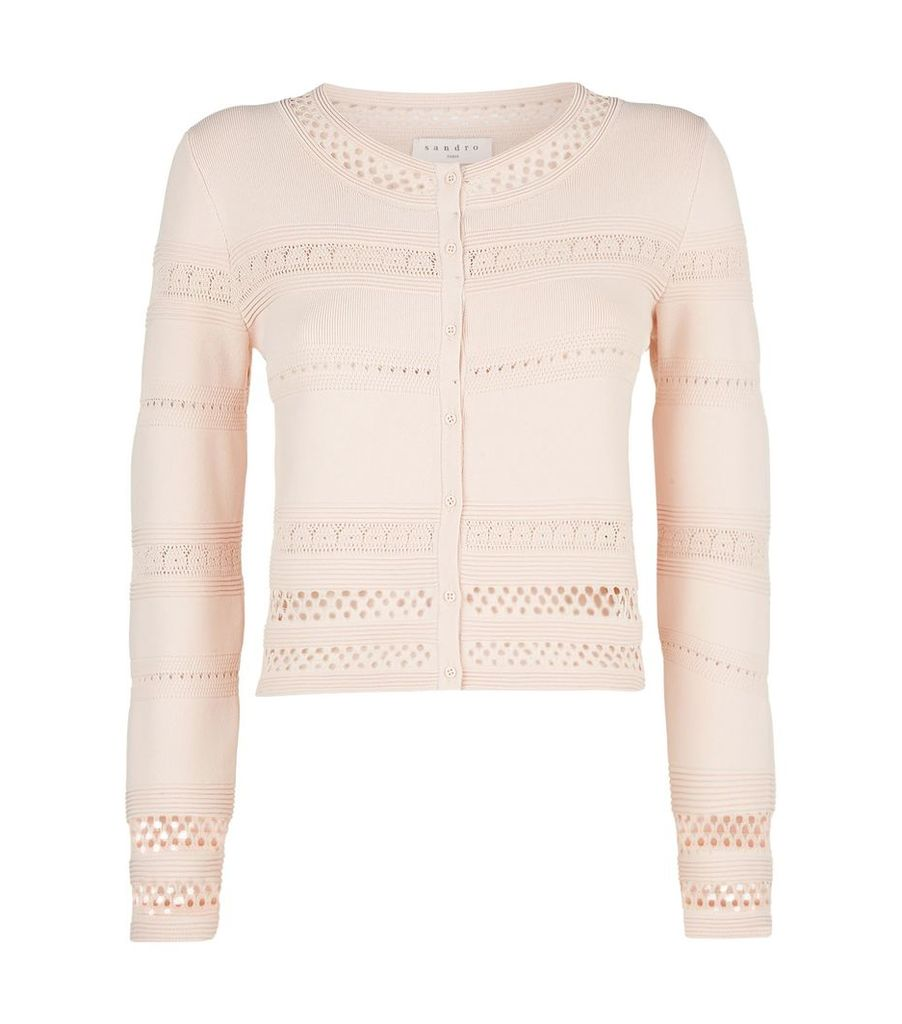 Cut Out Knit Cropped Cardigan