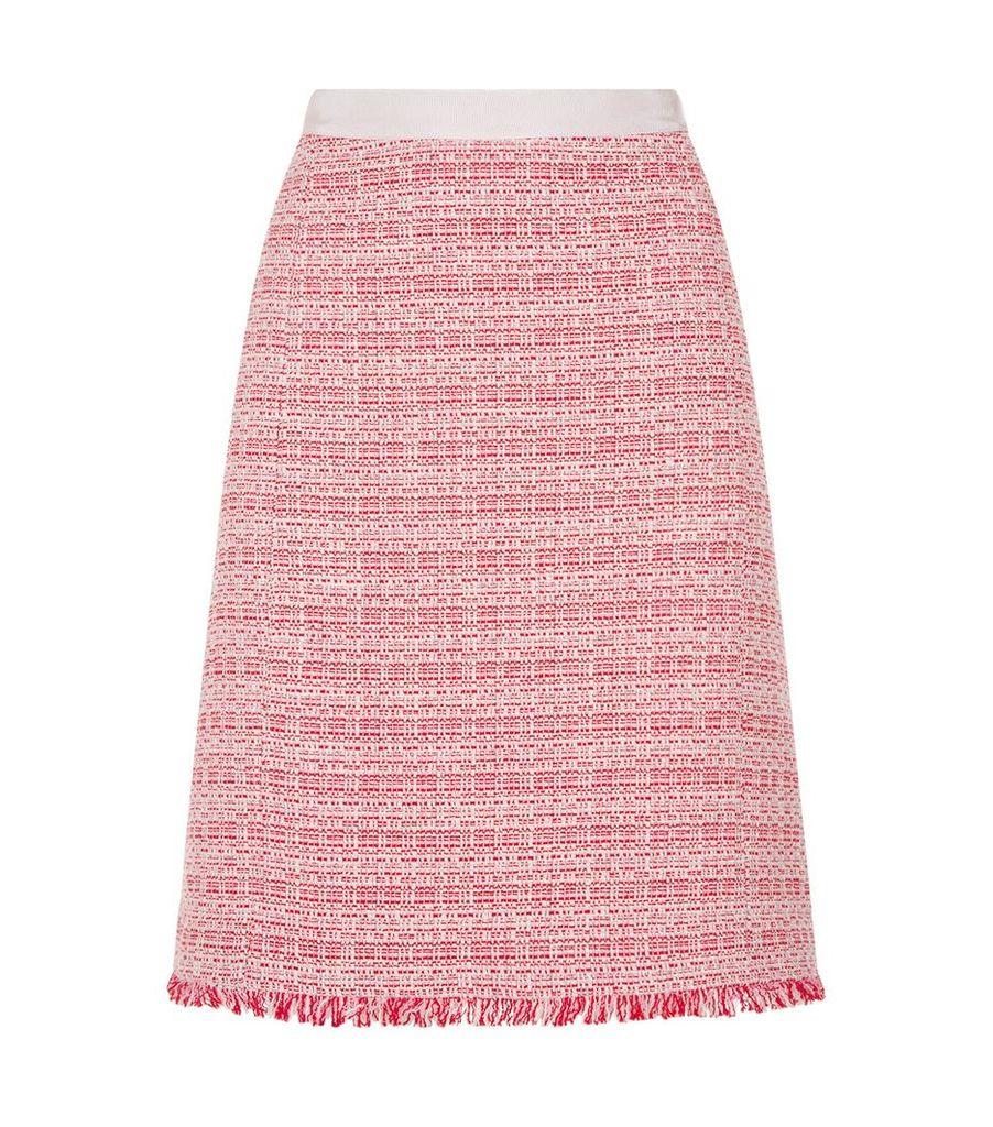 Bagdad Bouclé A-Line Mini Skirt