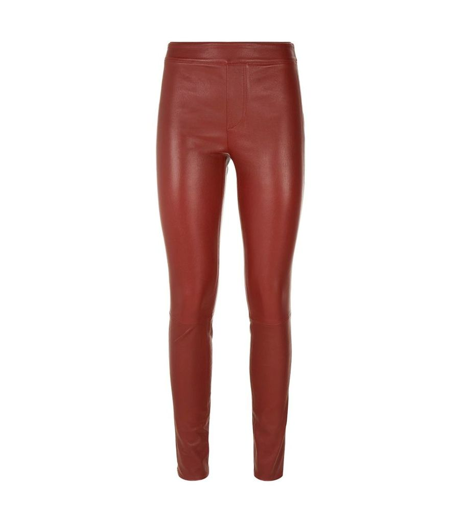 Leather Skinny-Fit Trousers