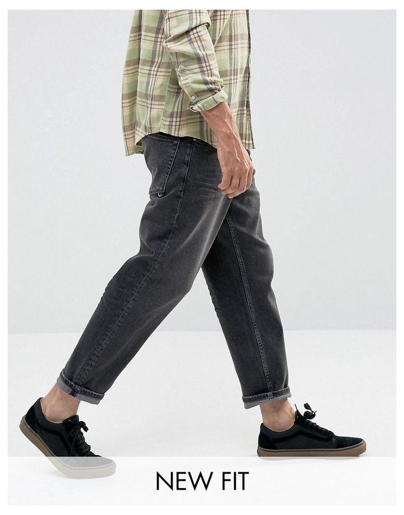ASOS Skater Jeans In Vintage Washed Black - Vintage black