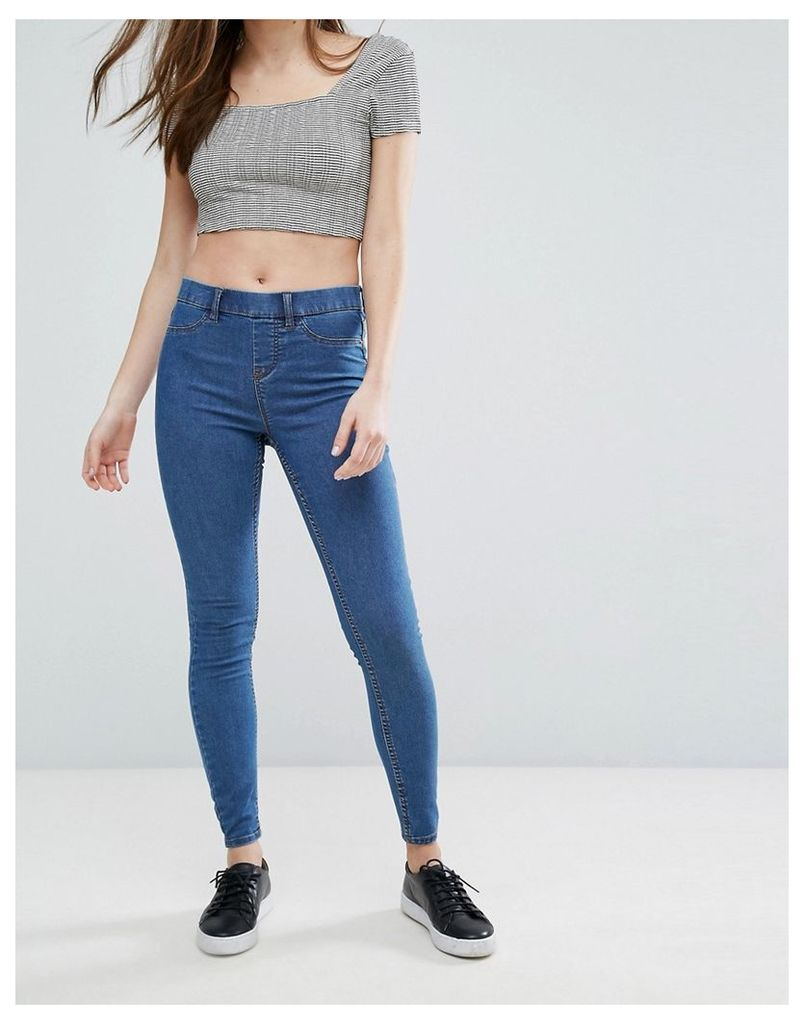 New Look High Waisted Jegging - Mid blue