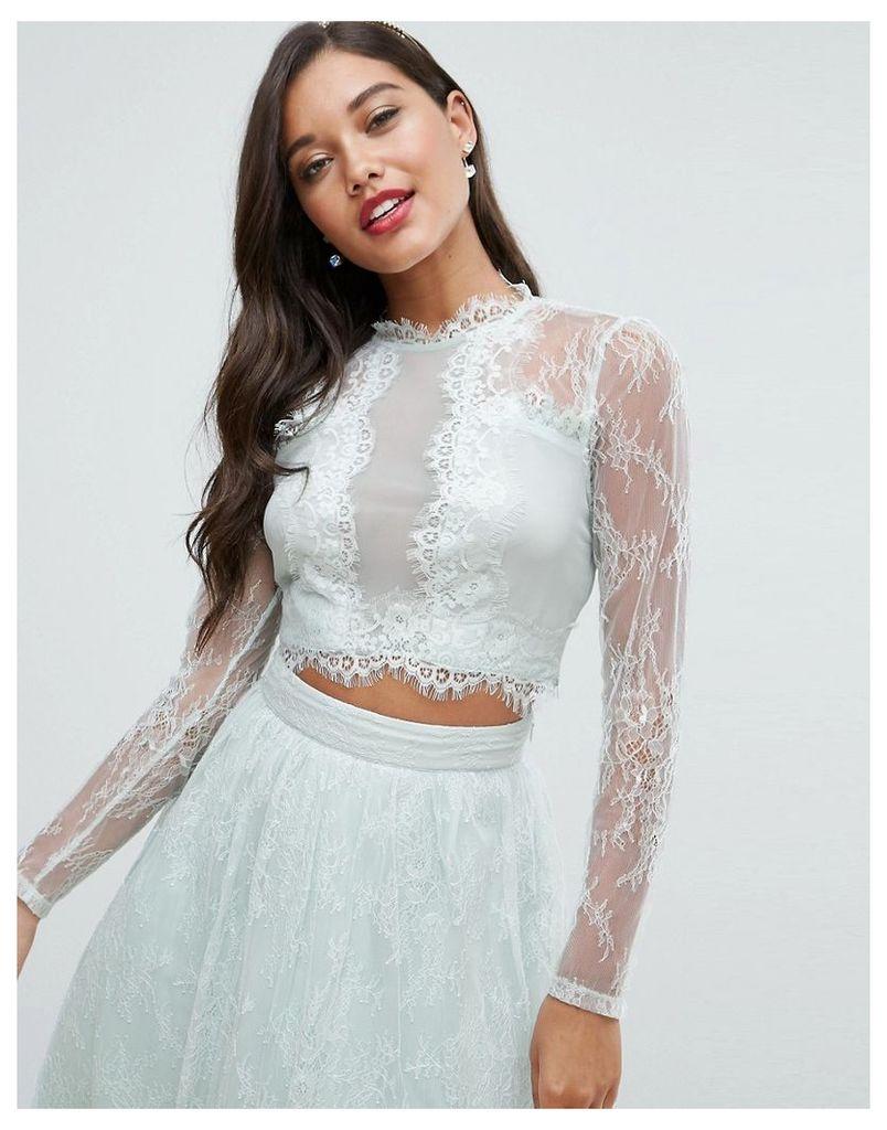 ASOS Bridesmaid Lace Insert Top - Mint