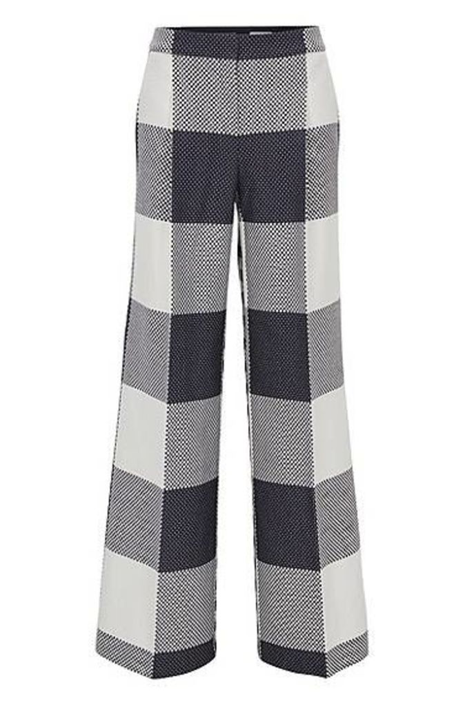 Relaxed-fit cotton wide-leg trousers