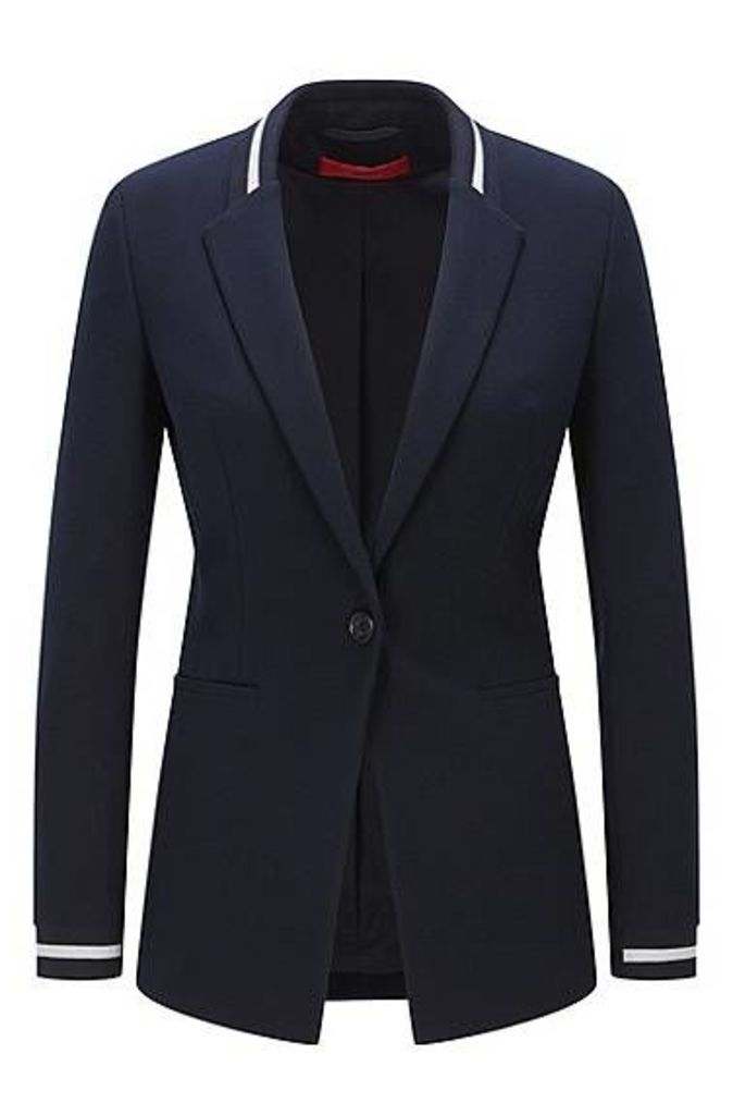 Regular-fit jacket in piqué fabric