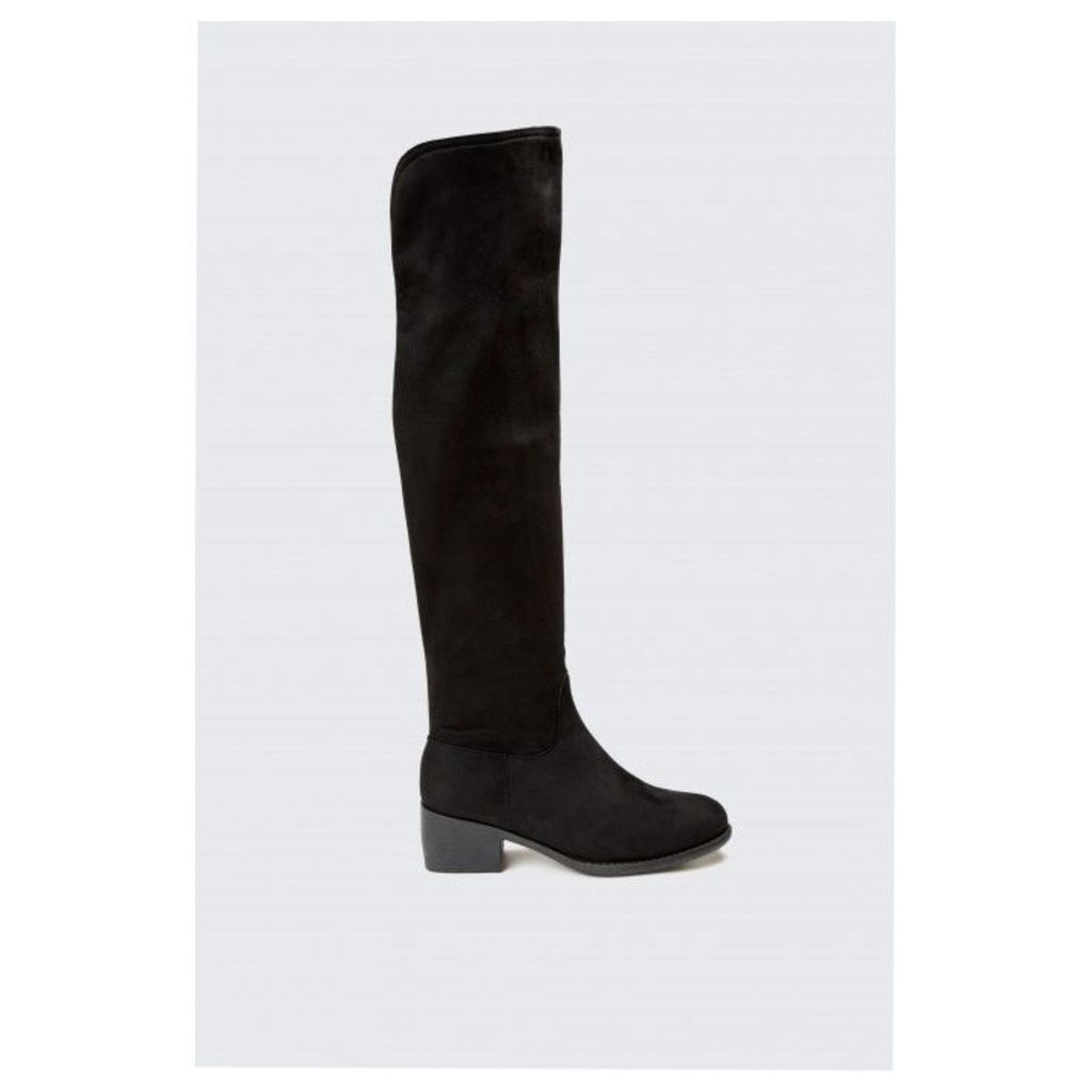 MICRO SUEDE LONG BOOTS