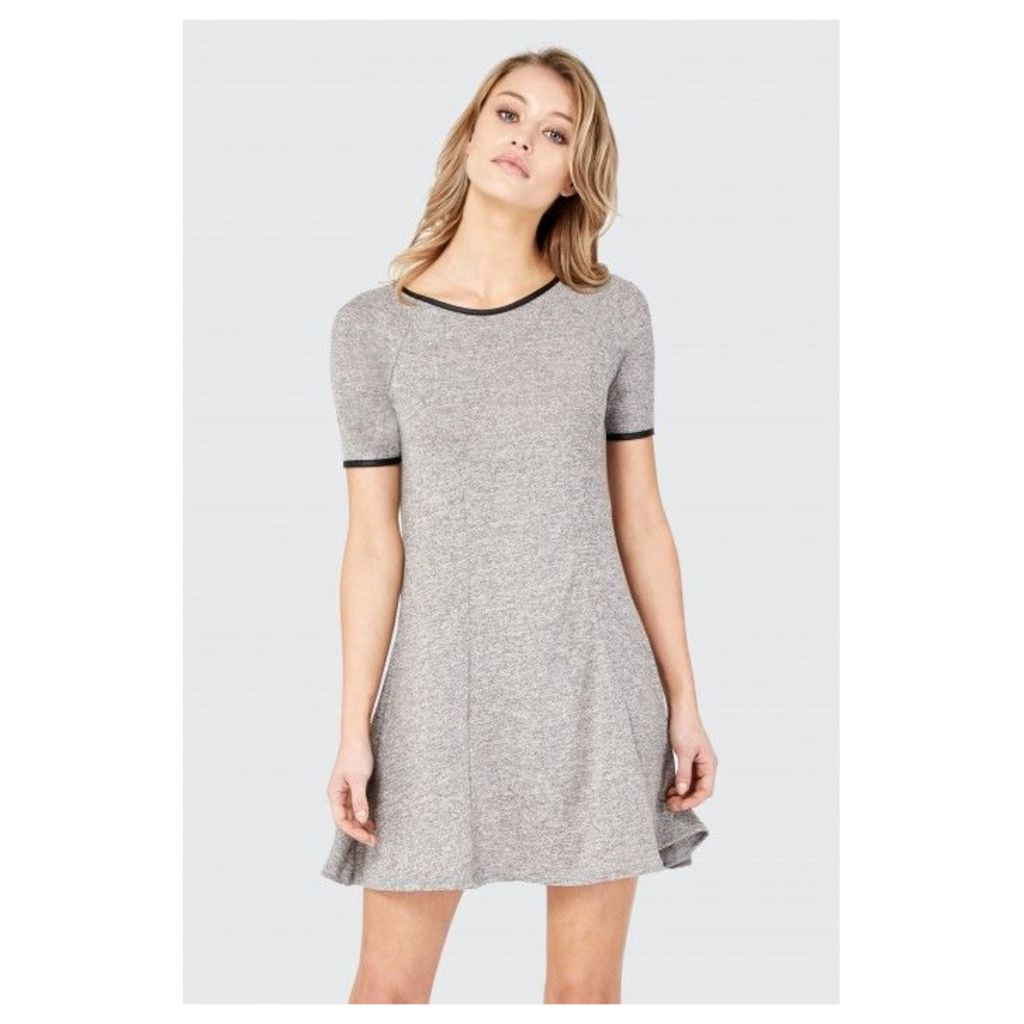 A-LINE BRUSHED SWING DRESS