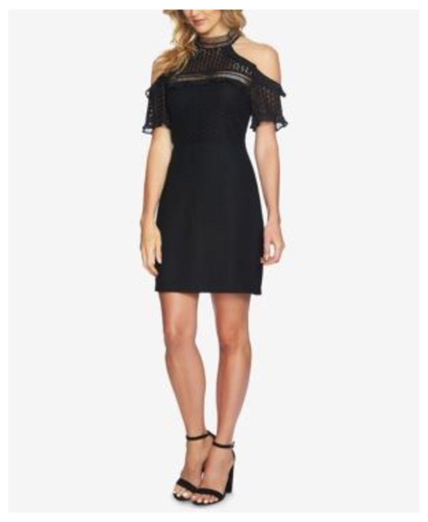 CeCe Lace Cold-Shoulder Sheath Dress