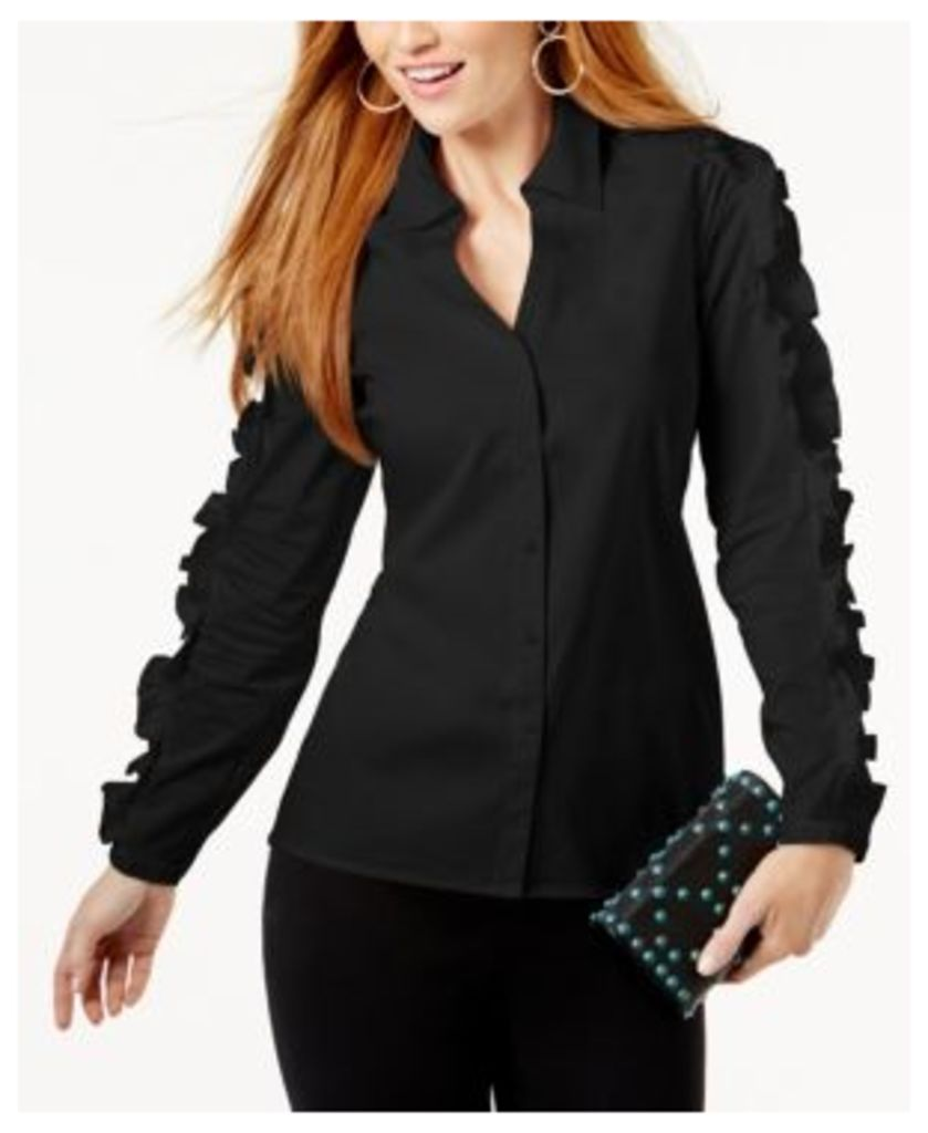 Anna Sui Loves Inc International Concepts Corset-Back Shirt, Created for Macy's