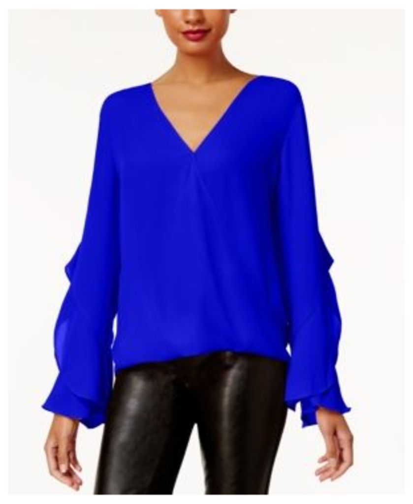 Anna Sui Loves Inc International Concepts Ruffled Surplice Top, Created for Macy's
