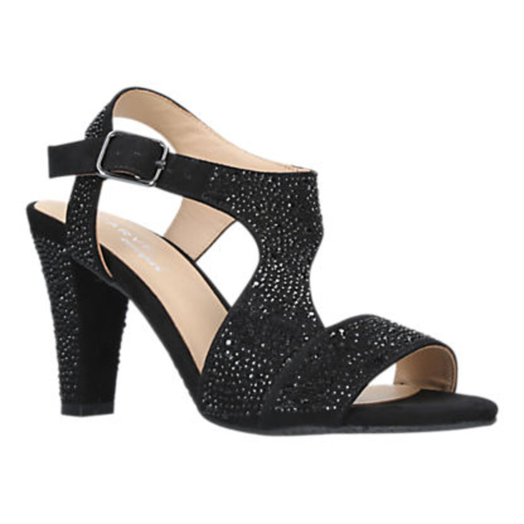 Carvela Comfort Simona Block Heeled Sandals, Black