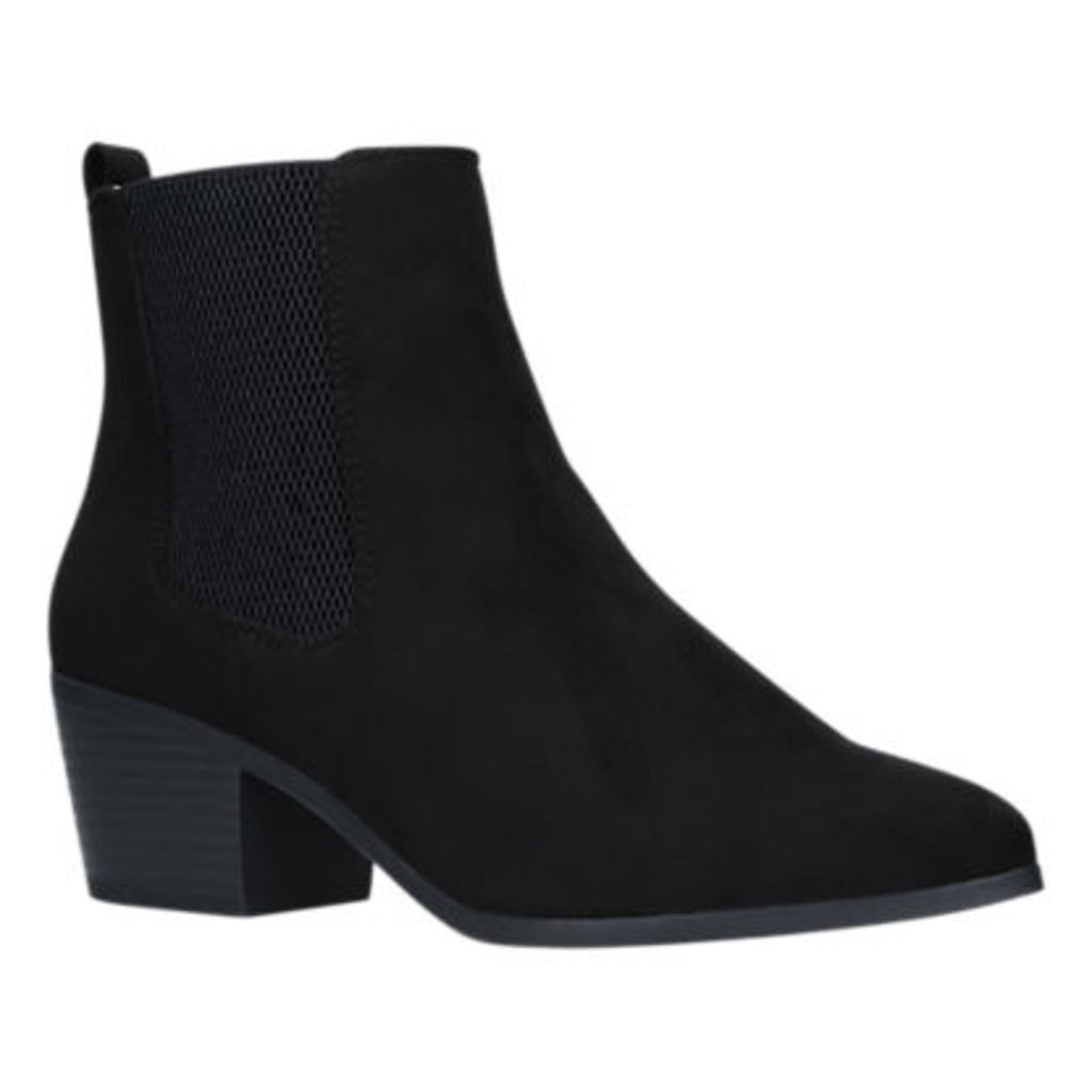 Miss KG Tina Block Heeled Ankle Chelsea Boots, Black