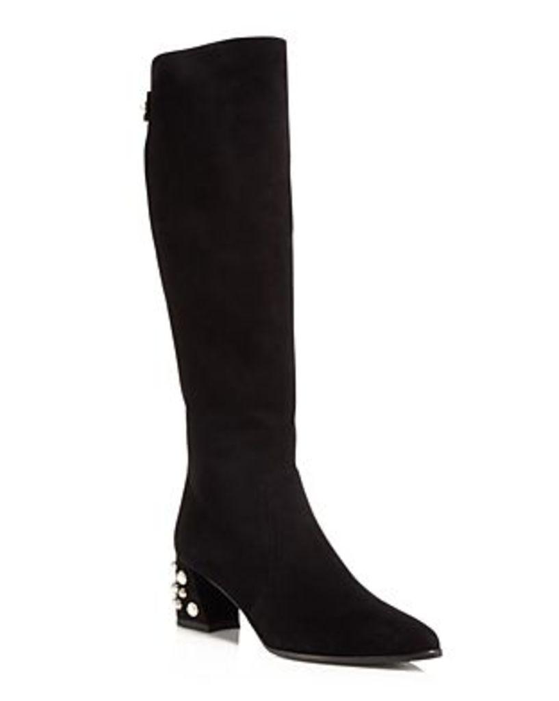 Stuart Weitzman Snap Pearl Stud Tall Boots