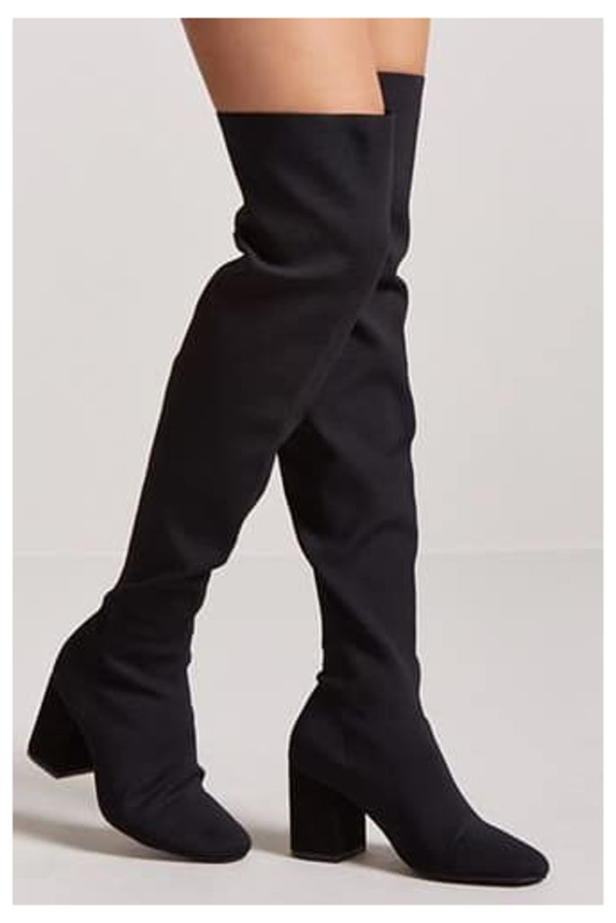 Textured Over-the-Knee Boots
