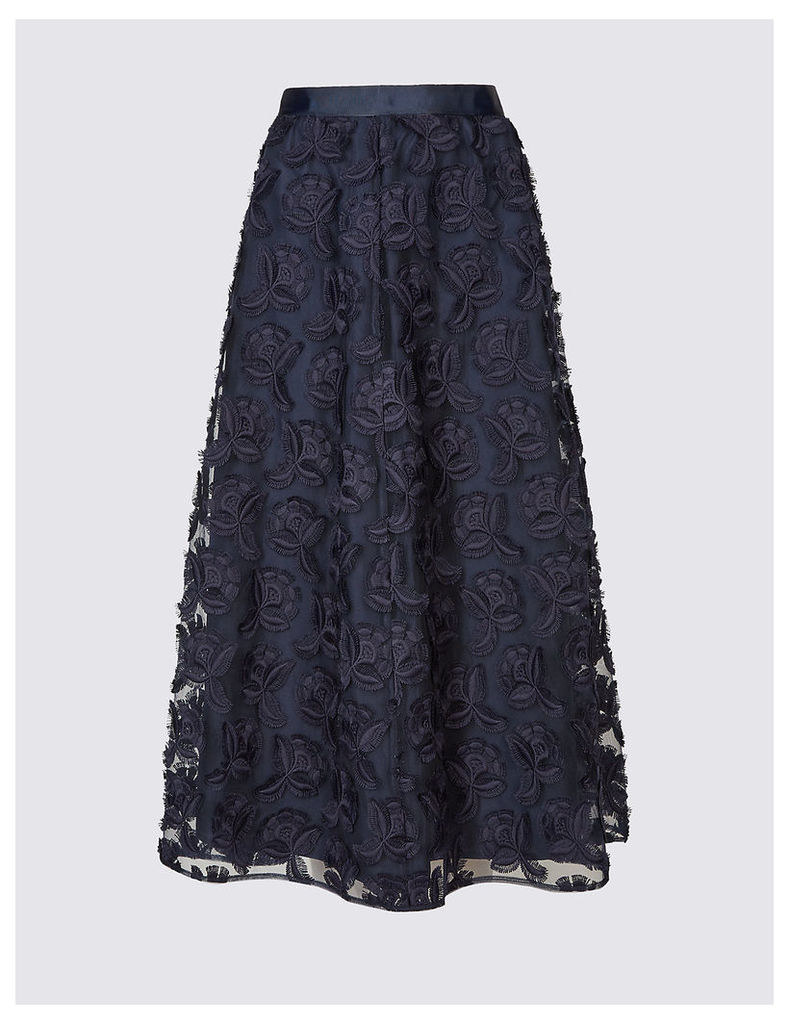 M&S Collection Jacquard Lace Full Skirt